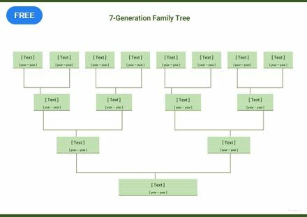 Seven Generation Family Tree Template Free Pdf Google Docs Word Apple Pages Template Net Family Tree Template Excel Family Tree Template Family Tree Template Word