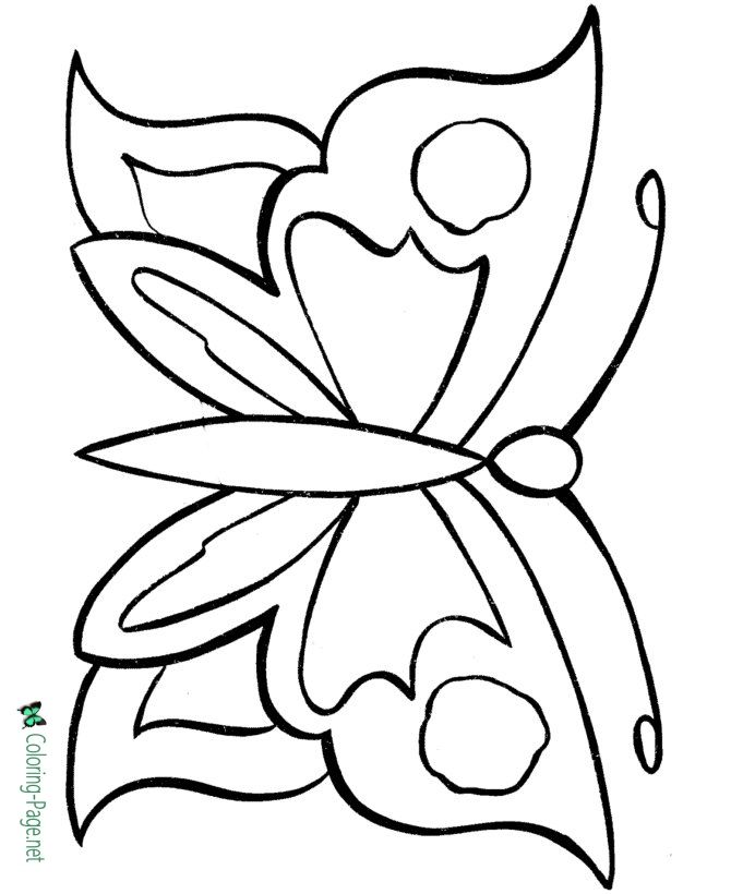 Butterfly Coloring Pages Many To Print Butterfly Coloring Page