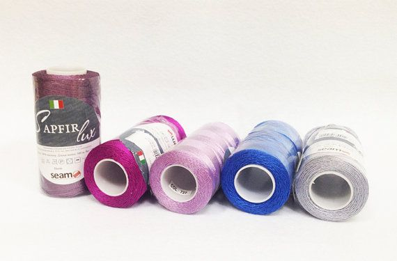Viscose Yarn Set of 5 skeins Sapfir Lux 100% Rayon by PetiteWool for lace