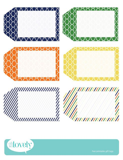 Oh So Lovely: FREE PRINTABLE GIFT TAGS