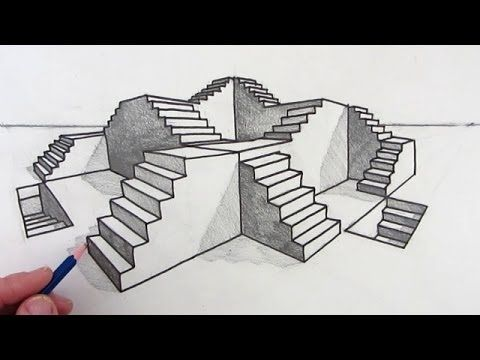 How to Draw Stairs Step by Step in Two Point Perspective