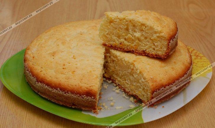 Апельсиновый бисквит пошаговый рецепт с фото
