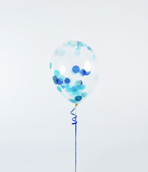 Confetti Balloon - Blue - Ede Events Party https://www.edeevents.party/collections/balloons-townsville