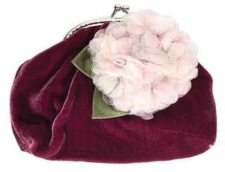 This is my Hydrangea vintage style coin purse. Each silk organza petal is individually stitched to make the flower. The sumptuous velvet purse is divine to touch too!