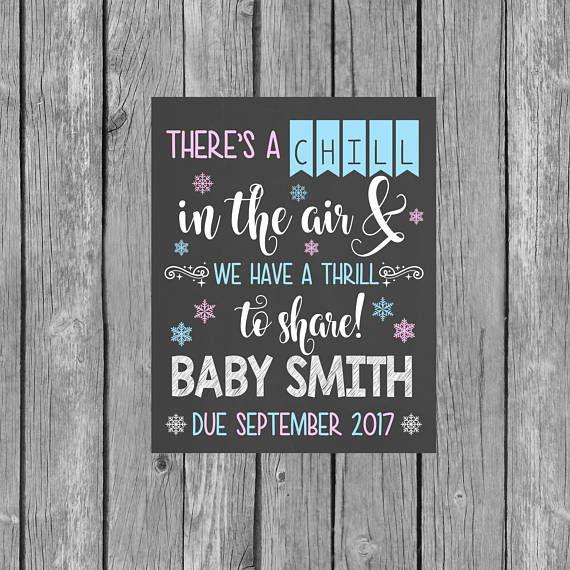 Pregnancy Announcement Digital File Chalkboard Pregnancy