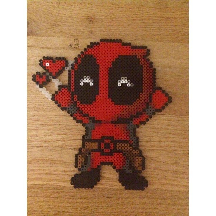 Deadpool perler beads by pomelo.princess