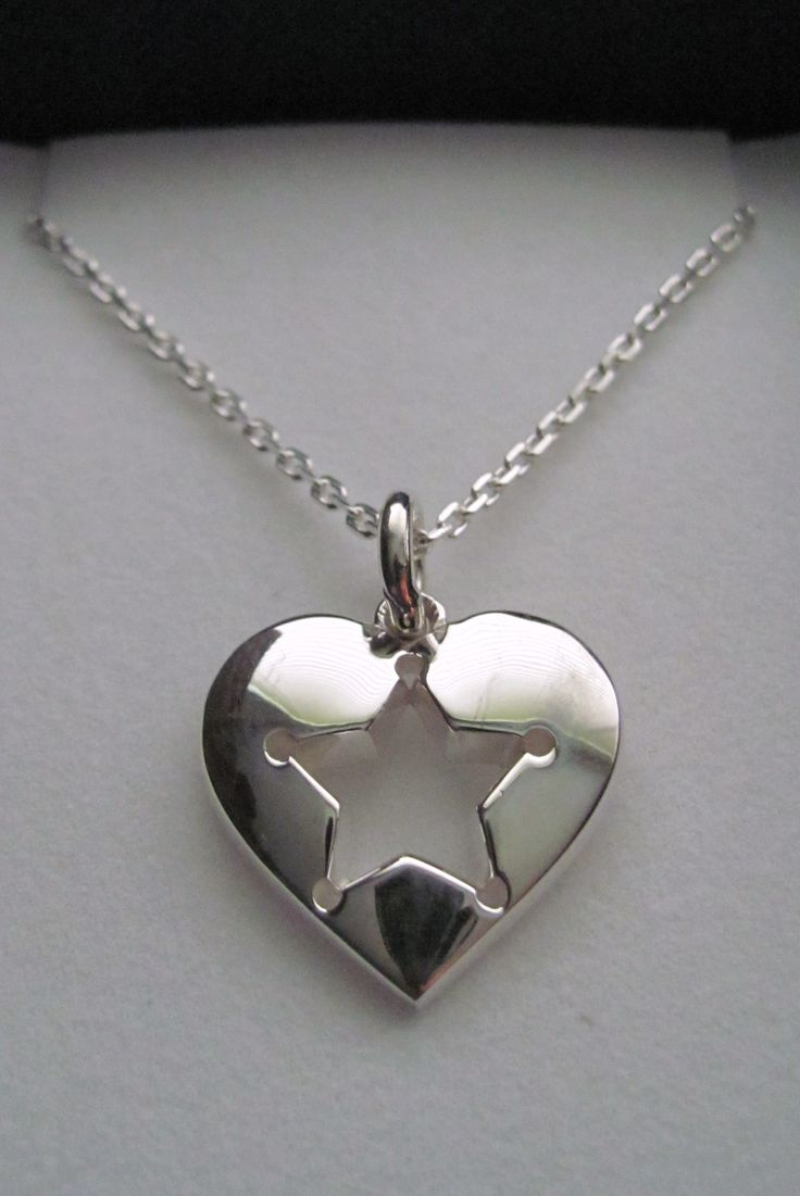 """""""Piece of My Heart"""" Silver Pendant from Blue Heart Digital Designs on Storenvy"""