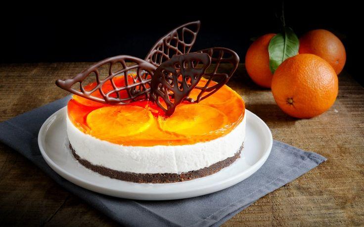 Cheesecake arancia e cioccolato ricetta