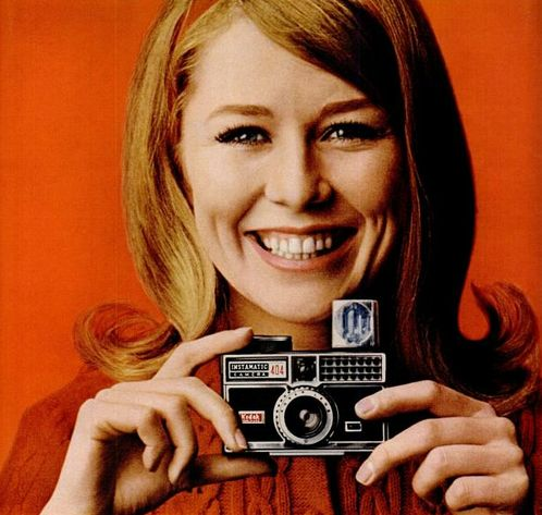 Kodak Instamatic Camera advertisement We all had these growing up, with their ridiculous rotating flash cubes!