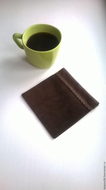 Купить Кошелек для мелочи - коричневый, кошелек, кошелек кожаный, монетница, монетница из кожи, кошелек коричневый