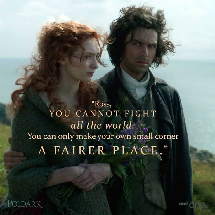 facebook.com/groups/poldarkmn  Aidan Turner stars as Ross Poldark, a redcoat who returns to Cornwall after the American Revolutionary War to discover that his father is dead, his lands are ruined, and his true love is about to marry his first cousin. Also starring is Eleanor Tomlinson as the fiery servant Demelza, a strong-willed miner's daughter who runs away from home and finds refuge in Poldark's enlightened household.