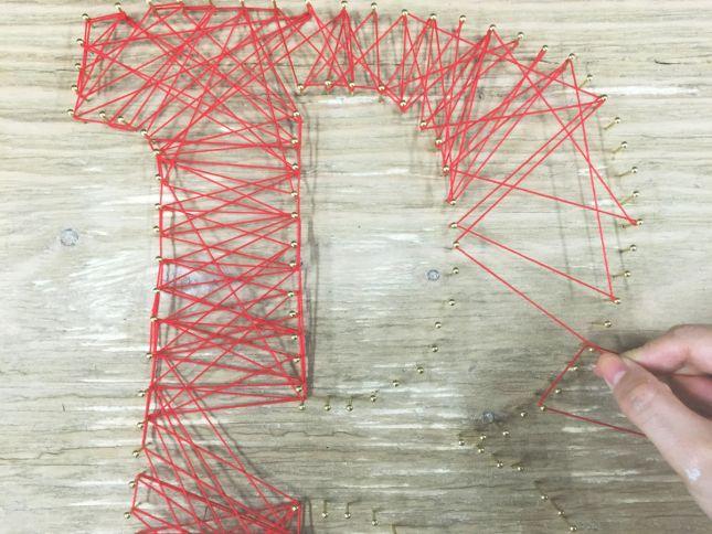 String Art -DIYストリングアート- 作り方|ARCH DAYS                              …