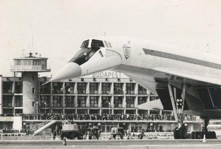 TU-144-es repülőgép Ferihegy 1-en