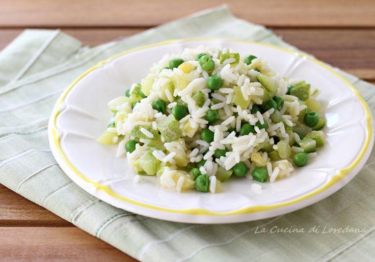Riso+freddo+con+zucchine+e+piselli