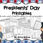 This packet contains no prep printables for Presidents' Day.    Included:  What is Presidents' Day Mini-Book What Does the President Do?  Mini-Book...