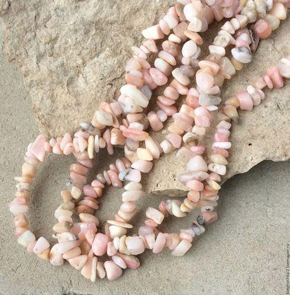 Для украшений ручной работы. Ярмарка Мастеров - ручная работа. Купить Опал розовый нить 20 см каменная крошка бусины для украшений. Handmade.