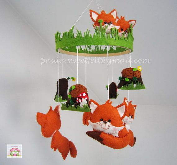Hey, I found this really awesome Etsy listing at https://www.etsy.com/listing/239661900/baby-fox-hanging-crib-mobile