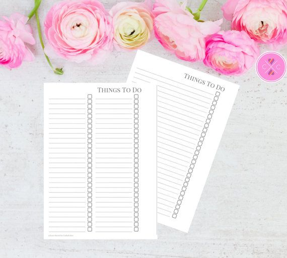 Keep track of your to do list using this A5 planner printable available in a one or two column format. Purchase this instant download and print out as many of these inserts as you need, just cut and hole punch to fit most A5/large size planners (A5 Filofax, large Kikki K etc). NOTE: This is a PRINTABLE PDF FILE, no physical product is provided. :::::::::::::::::::: What you get :::::::::::::::::::: -High resolution PDF of a To Do List insert with a grey theme. -TOU (terms of use) and ...