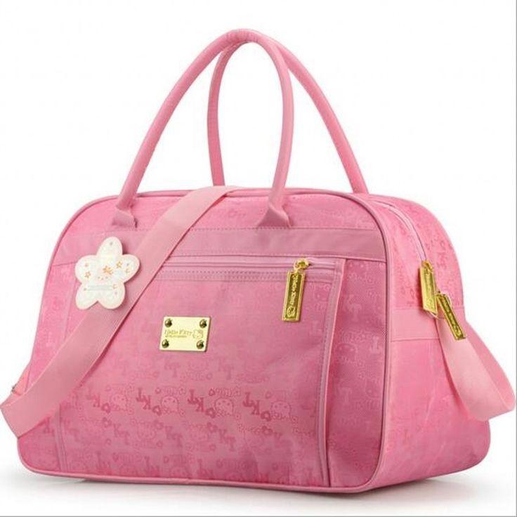 23.1$  Watch here - Fashion Hello Kitty cute pink travel shoulder big bag women cartoon designer large casual tote clutch handbag borsa donna49   #SHOPPING