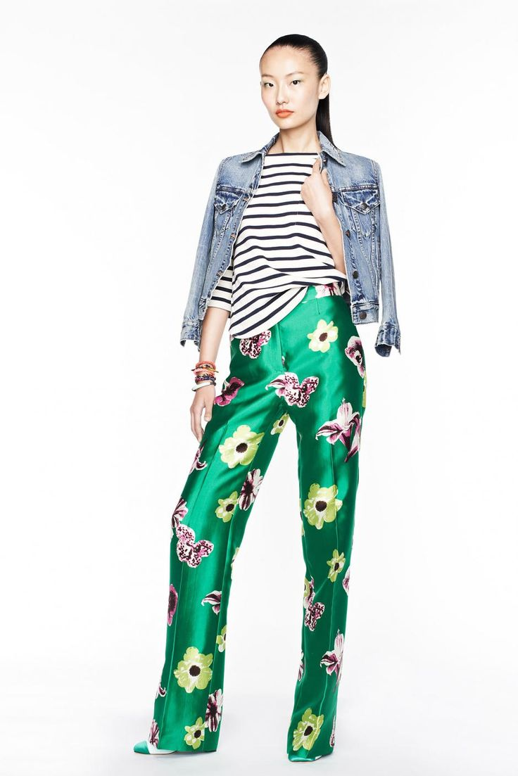 jcrewspringsummer2013womenslookbook30: Summer Fashion, J Crew, Mixed Patterns, Fashion Week, Jenna Lyons, Mixed Prints, Jcrew, Spring 2013, Floral Pants