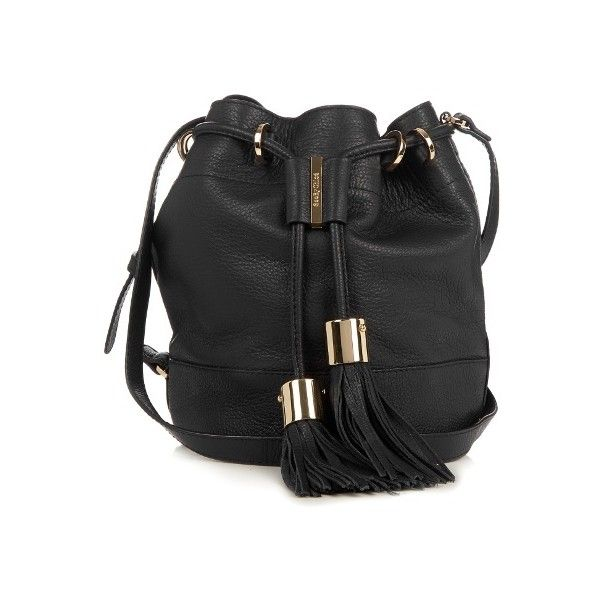 See By Chloé Vicki medium leather cross-body bucket bag (4.862.170 IDR) ❤ liked on Polyvore featuring bags, handbags, shoulder bags, black, leather crossbody purse, over the shoulder purse, over the shoulder bags, leather crossbody handbags and leather cross body handbags