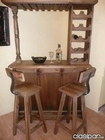 Las 25 mejores ideas sobre cantinas de madera en for Bar rustico en madera