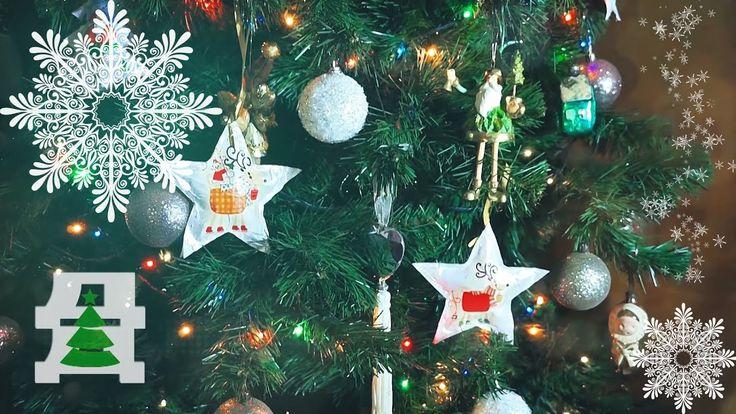 Новогодние игрушки своими руками из бумаги и салфеток