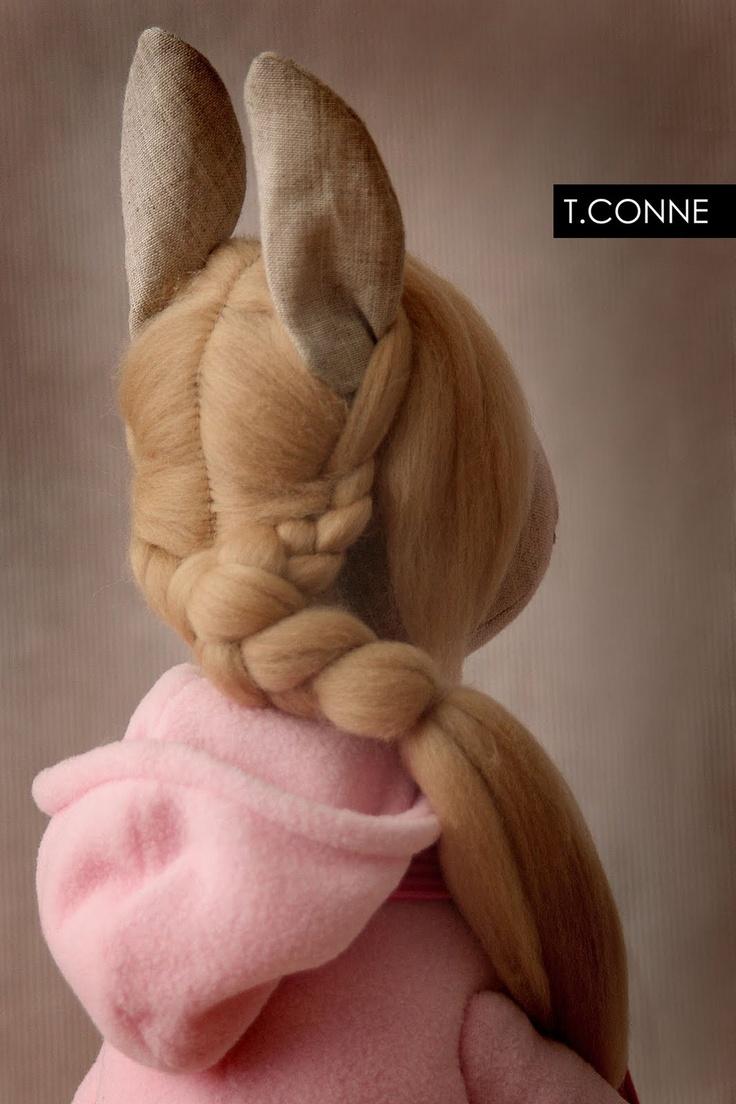 horse girl's hair