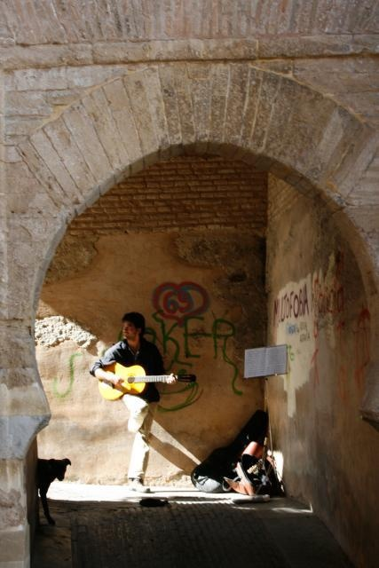 Músico en el Albaicin.  http://www.costatropicalevents.com/en/costa-tropical-events/andalusia/cities/granada.html
