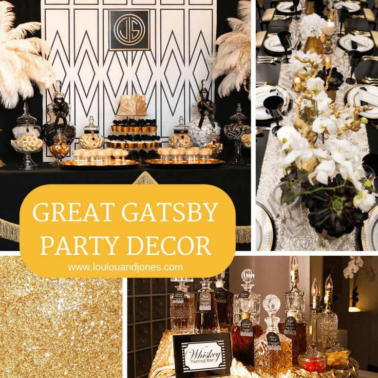 172 best images about great gatsby 80th birthday party for 1920 party decoration ideas