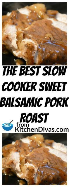I have to admit I love gravy and/or sauce with my meals. I just cant help it. This gravy is awesome! This recipe for Slow Cooker Sweet Balsamic Pork Roast is definitely worth a try. Delicious with pork shoulder or pork loin, this recipe tastes great