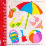 SUMMER BEACH - SPIAGGIA 80s Sandylion Canada sticker adesive kawaii
