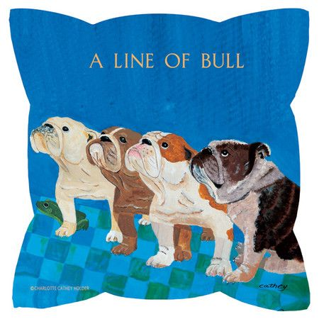 """Bring a touch of whimsy to your sofa or settee with this eco-friendly pillow, showcasing a dog motif. 18"""" sq $36.95 @Joss & Main HOW CUTE!! Product: PillowC..."""