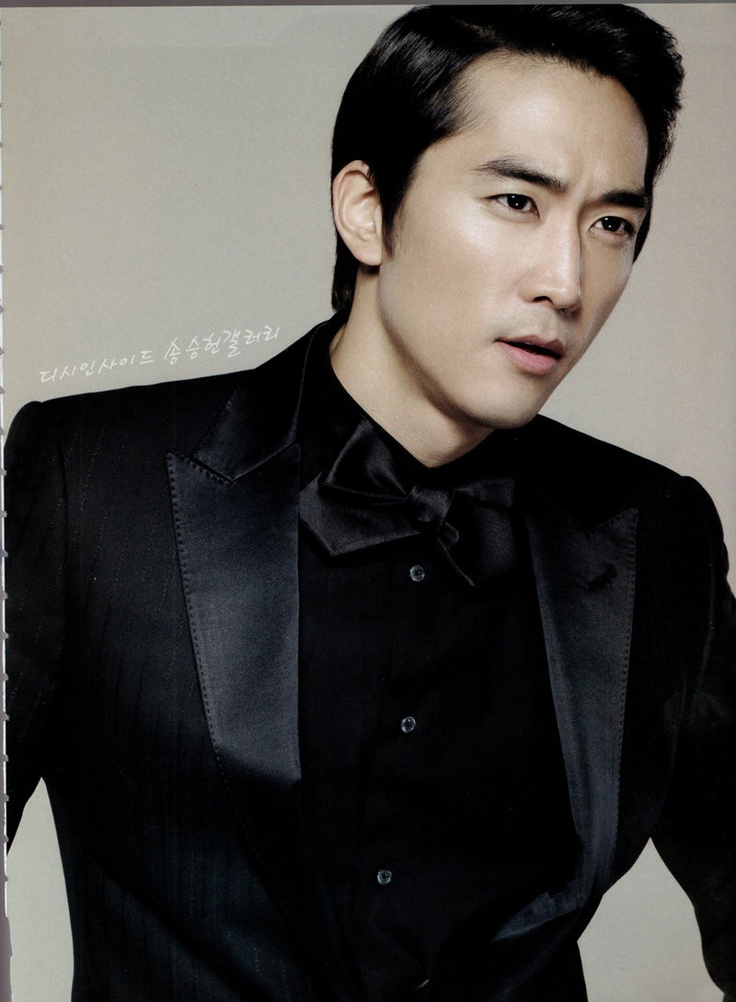 Song Seung Heon In All Black Men In Black Suits