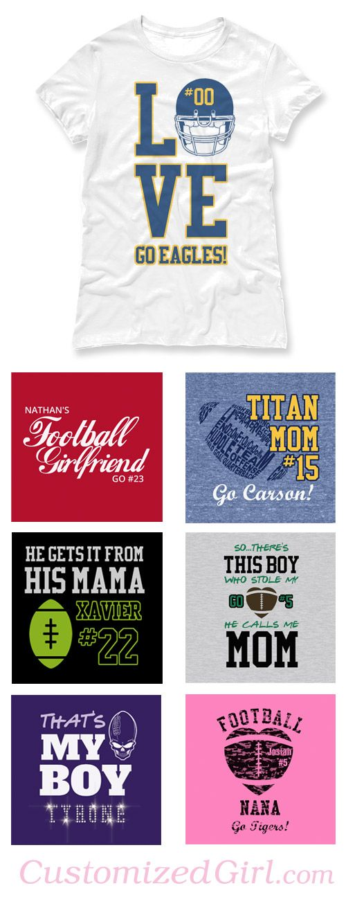 Custom Football Shirts #football #footballmom #footballshirts
