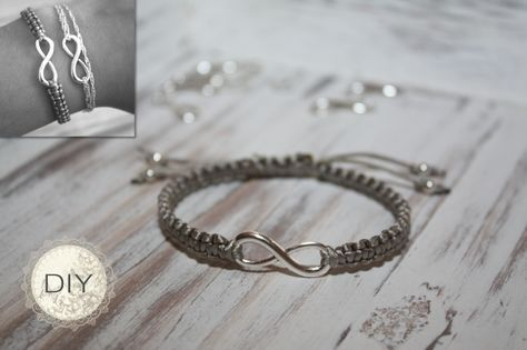 Kreiere ganz einfach dein eigenes DIY Armband mit Unendlichkeitssymbol. Einfache Anleitung für dein DIY Unendlichkeitsarmband zum selber machen!