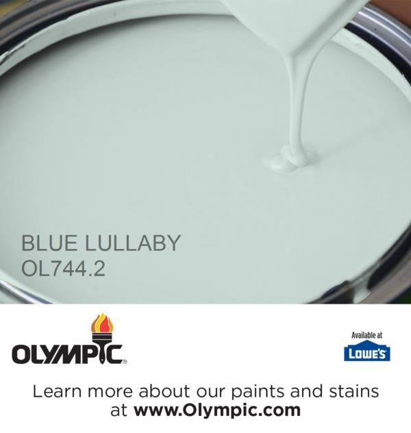 BLUE LULLABY OL744.2 is a part of the aquas collection by Olympic® Paint.