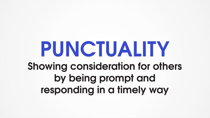 Punctuality and discipline - the key traits of success