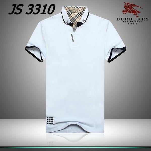 cheap polo ralph lauren Burberry London V-Neck Striped Collar Short Sleeve Men's Polo Shirt White http://www.poloshirtoutlet.us/