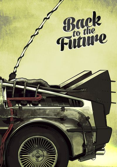 Back to the future Art Print my favorite movie ever!