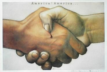 designer: Gorowski Mieczyslaw poster title: America! America…  year of poster: 1992   The Art of Poster - The largest collection of Polish posters