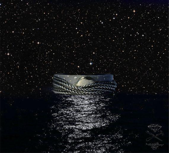 Moon wave and stars от Ustuzhanine на Etsy