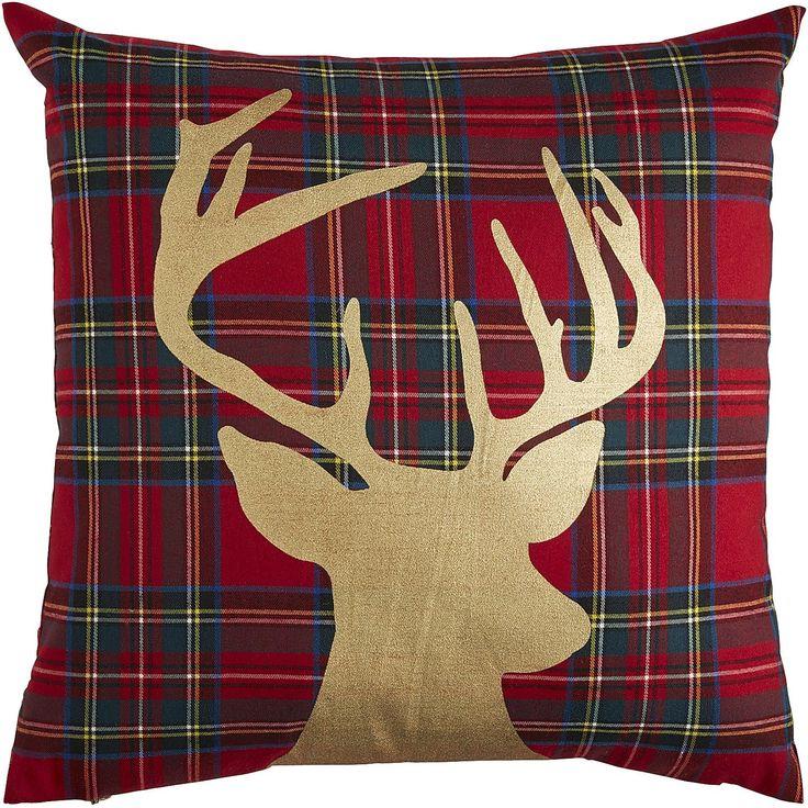 Plaid Reindeer Pillow - Red Pier 1 Imports Christmas Decor Pinterest Plaid, Pier 1 ...