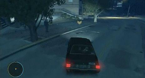 funny video game glitch GTA IV flying car