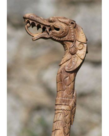 Hand Carved Walking Sticks Product | Name: Wooden Dragon Walking Stick