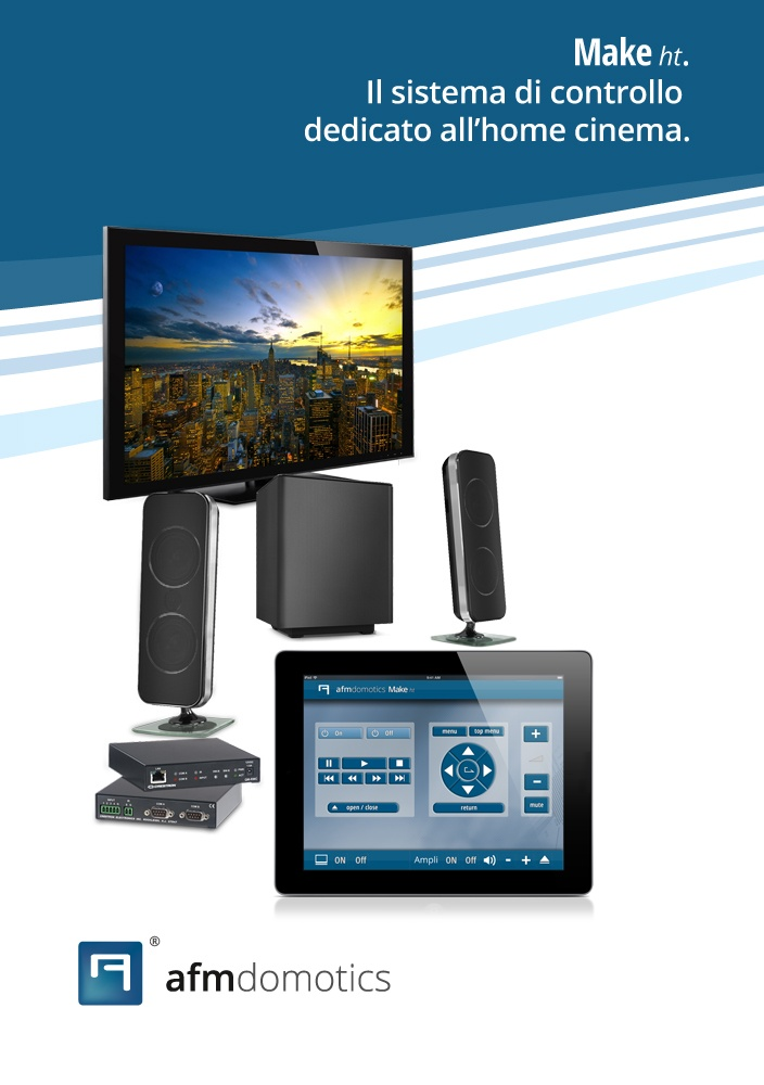 """Make ht"" system: fully control your home cinema/theater from tablets and smartphones. (#homeautomation)"
