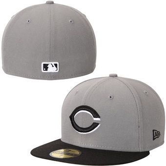 Men's Cincinnati Reds New Era Gray 2-Tone Storm 59FIFTY Fitted Hat