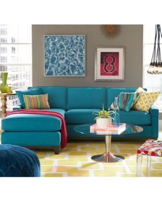 295 best Macyu0027s Furniture Gallery images on Pinterest Couch sofa - teal living room furniture