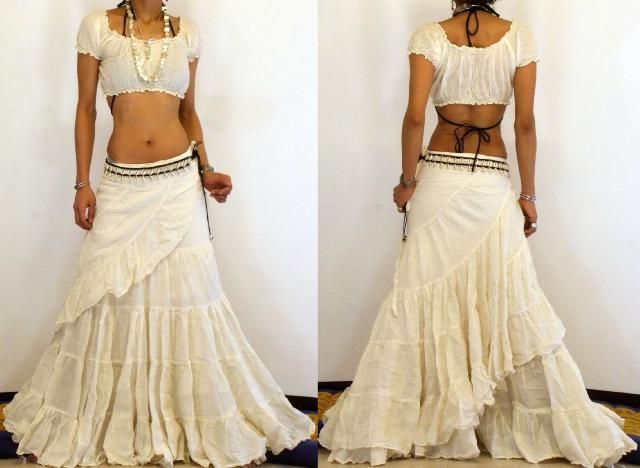 * FREE WORLDWIDE SHIPPING * No Minimum Order - BOHO GYPSY BIG & LONG BELLY DANCE WRAP SKIRT FK 3