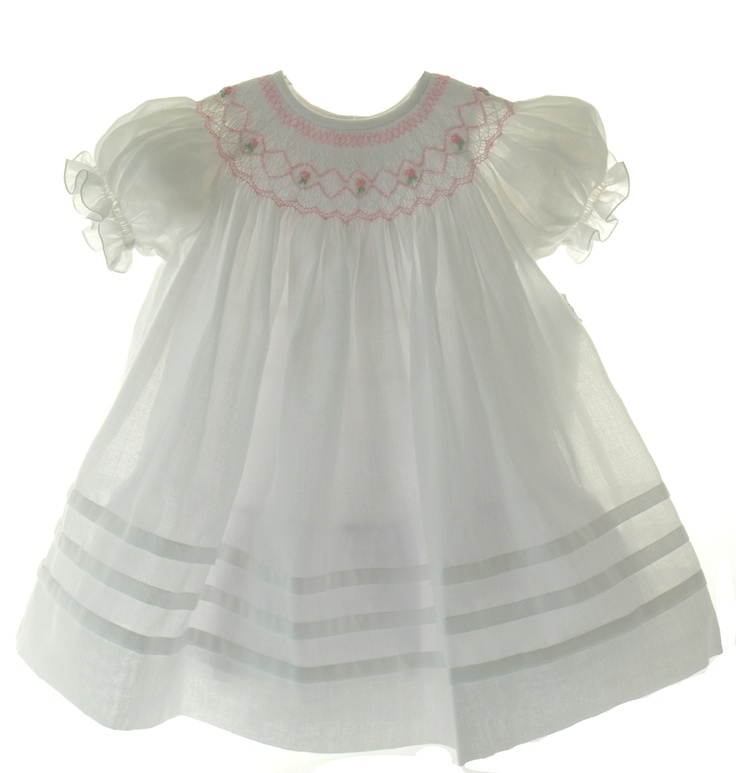 adorable white smocked dress